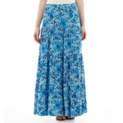 St. John's Bay® Tiered Maxi Skirt