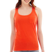 a.n.a® Front-Pocket Back-Seam Racerback Tank Top