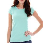 Liz Claiborne® Short-Sleeve Basic T-Shirt - Tall