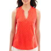 Liz Claiborne® Sleeveless T-Shirt