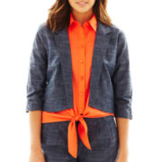 by&by Notch-Collar Cropped Jacket