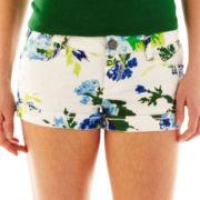 Vanilla Star Floral Print Roll-Cuff Shorts
