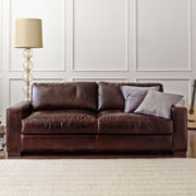 "Signature Leather 84"" Sofa"