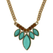 nicole by Nicole Miller® Simulated Turquoise & Topaz Navette Necklace