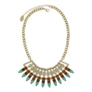nicole by Nicole Miller® Simulated Stone Bib Necklace