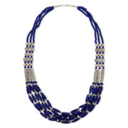 Aris by Treska Dark Blue Multi-Row Necklace