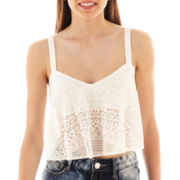 Decree® Lace Cropped Swing Cami