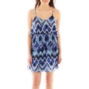 Speechless® Printed Cinch Waist Dress