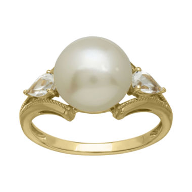 jcpenney.com | Certified Sofia™ Cultured Freshwater Pearl 10K Gold Ring
