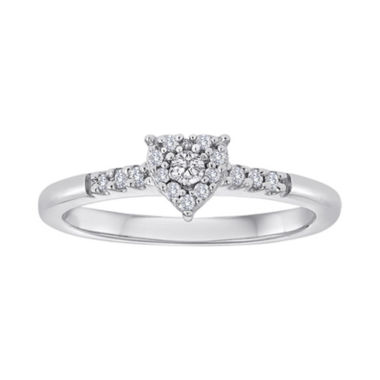 jcpenney.com | 1/6 CT. T.W. Diamond Heart Ring