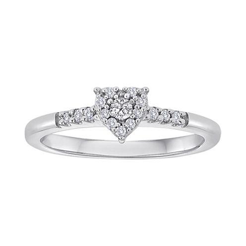 1/6 CT. T.W. Diamond Heart Ring