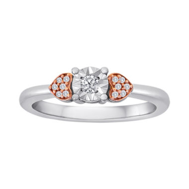jcpenney.com | 1/10 CT. T.W. Diamond Two-Tone Ring