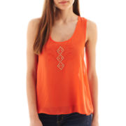 by&by Embroidered Tank Top
