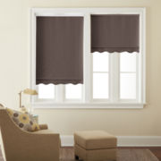 JCPenney Home™ Saratoga Cut-to-Width Fringed Blackout Roller Shade