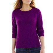 St. John's Bay® Marled Crewneck Sweater - Petite