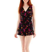 Decree® Sleeveless Cross-Front Romper