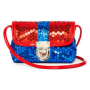 On the Verge Red and Blue Sequin Purse – Girls