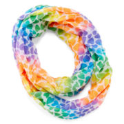 On the Verge Heart-Print Rainbow Infinity Scarf – Girls One Size