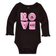 Okie Dokie® Embroidered Bodysuit – Baby Girls newborn-24m