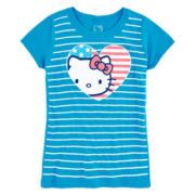 Hello Kitty Graphic Glitter Tee – Girls 7-16