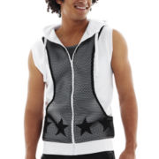 Switch® Sleeveless Mesh-Front Hoodie