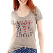 Arizona Short-Sleeve Americana Burnout T-Shirt