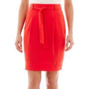 Liz Claiborne® Belted Soft Pencil Skirt