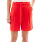 Liz Claiborne® Belted Soft Shorts