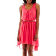 by&by Sleeveless High-Low Chiffon Dress