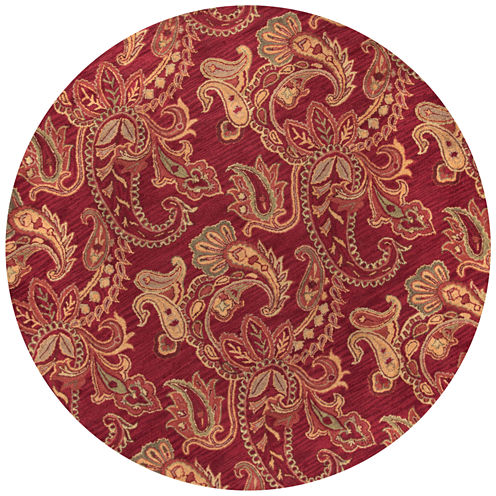 Rizzy Home Ashlyn Paisley Round Rugs