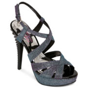 9 & Co.® Damani Textured-Heel Strappy Sandals