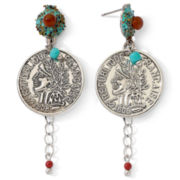 Aris by Treska Epoxy Coin Earrings