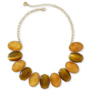 Monet® Brown Oval Stone Collar Necklace