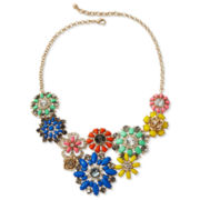 Liz Claiborne Multicolor Flower Bib Necklace