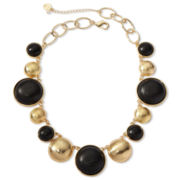 Liz Claiborne Gold-Tone & Wood Collar Necklace