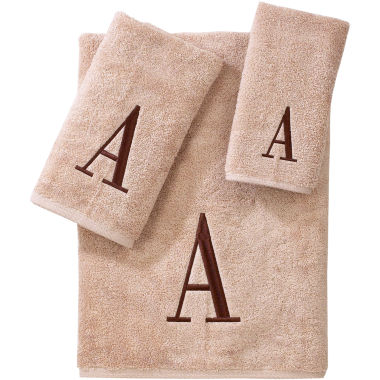 jcpenney.com | Avanti Monogram Block Bath Towels