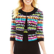 R&K Originals® Dress with 3/4-Sleeve Print Jacket