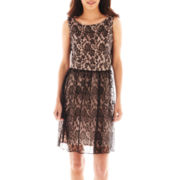 Simply Liliana Sleeveless Lace Open-Back Dress
