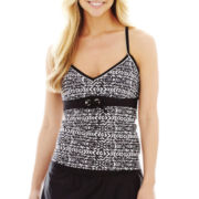 Beach Native® Tribal Print Grommet Tankini Swim Top