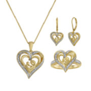 1/10 CT. T.W. Diamond Mom 3-pc. Jewelry Set