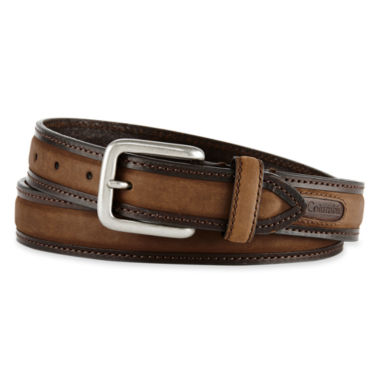 jcpenney.com | Columbia® Brown Leather Logo Buckle Belt