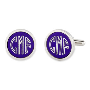 jcpenney.com | Personalized Anodized Aluminum Round Cuff Links