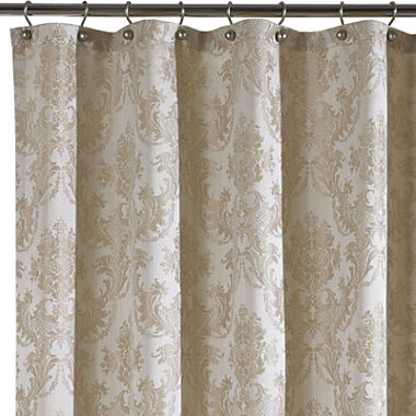 Queen Street Bianca Damask Shower Curtain