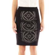 Worthington® Lace-Inset Pencil Skirt