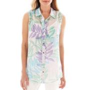 Liz Claiborne® Sleeveless Woven Top
