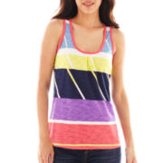 Liz Claiborne Segment-Striped Tank Top