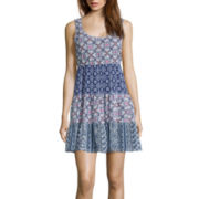 Speechless® Sleeveless 3-Tier Babydoll Dress