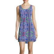 My Michelle® Sleeveless Chiffon Print A-Line Dress- Juniors