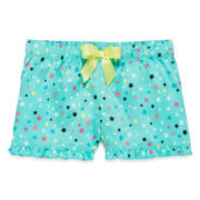 Total Girl® Ruffled Hem Bow Sleep Shorts - Girls
