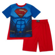 Comics Superman with Cape 3-pc. Pajama Set - Boys